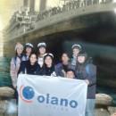 Olano en el museo del Titanic