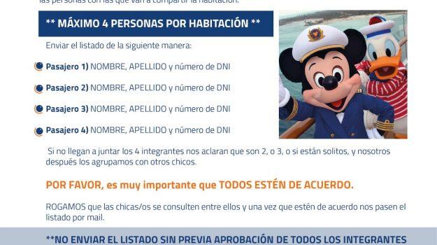 Listado Habitaciones Disney 2020