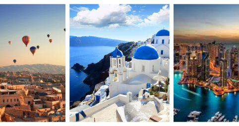 Turquía, Grecia y Dubai